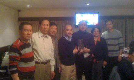 2010年2月8日我会举办春节联谊会的庆功宴