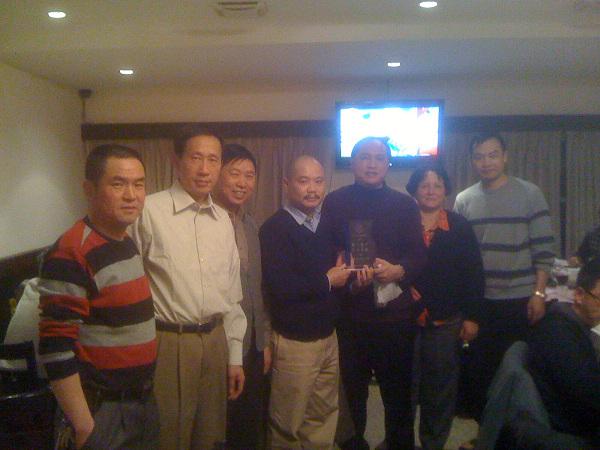 2010年2月8日我会在上湘水山庄举办春节联谊会的庆功宴